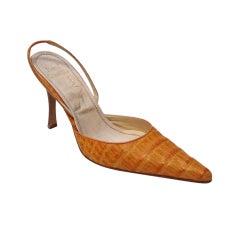 Rene Caovilla Honey Crocodile Shoes