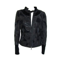 Escada Silk and Velvet Jacket