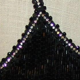 Giorgio Armani Black Fully Beaded Top w/ rhinestone detail - S For Sale 1