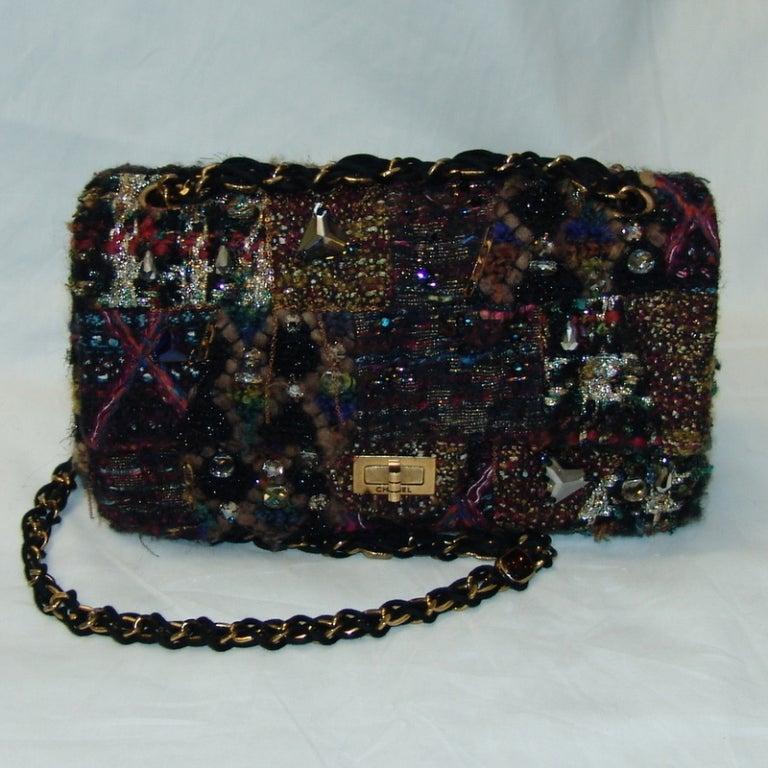 Chanel Multi Color Knit Handbag 2