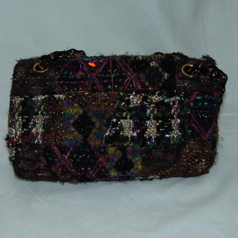 Chanel Multi Color Knit Handbag 3