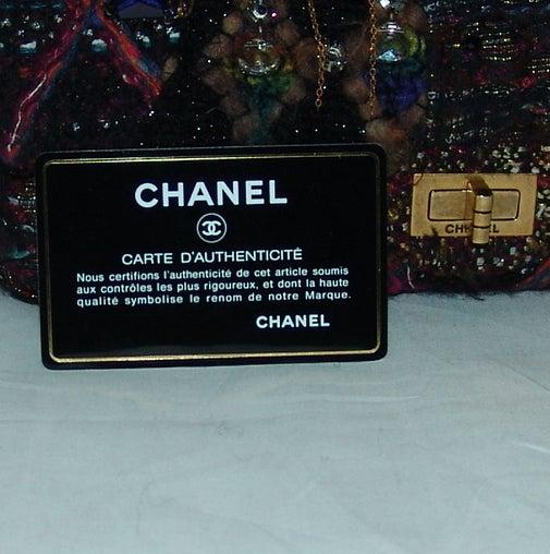 Chanel Multi Color Knit Handbag 6