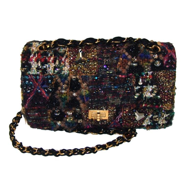 Chanel Multi Color Knit Handbag 1