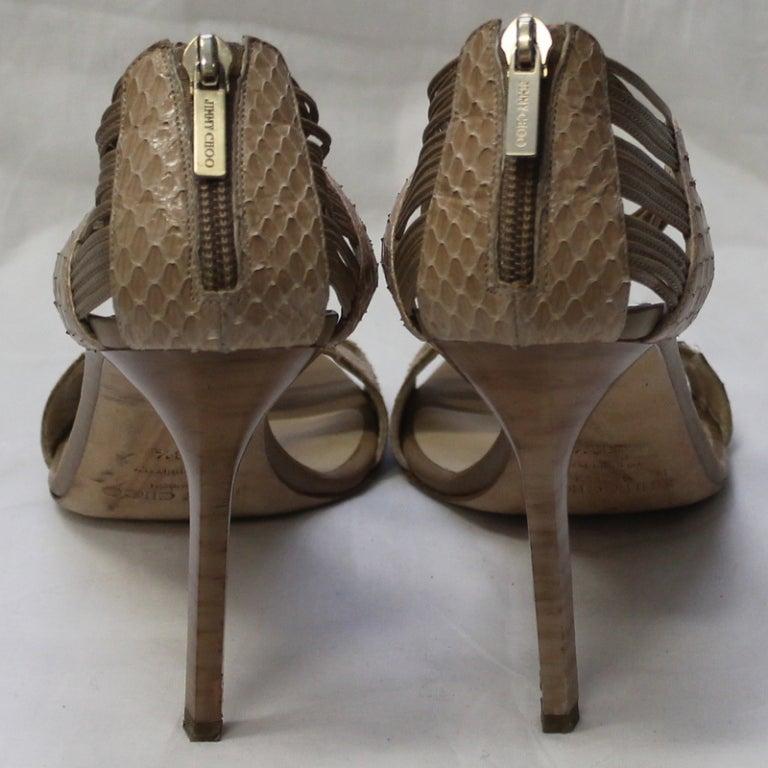 Jimmy Choo Beige Snake Skin Shoes 4