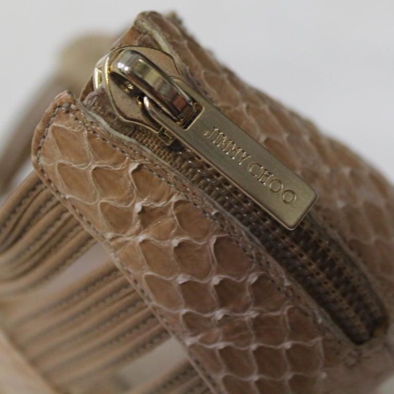 Jimmy Choo Beige Snake Skin Shoes 5