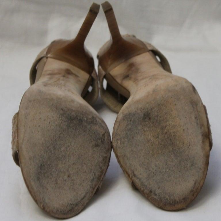Jimmy Choo Beige Snake Skin Shoes 6