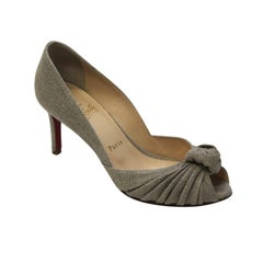 Louboutin Taupe Woven Shoes