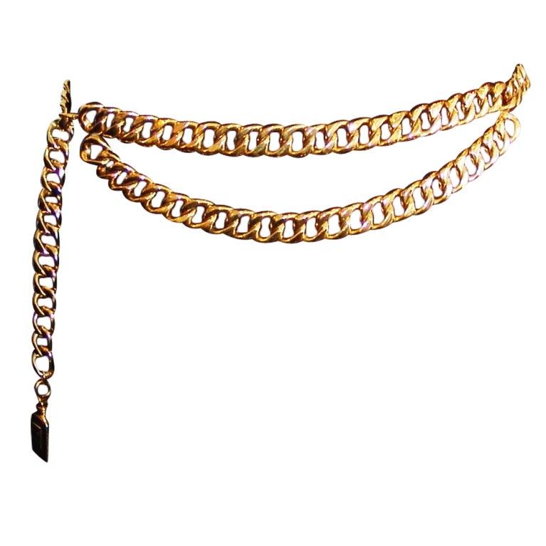 Chanel Gold Link Belt 1