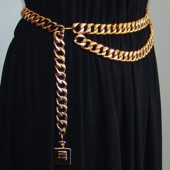 Chanel Gold Link Belt 3