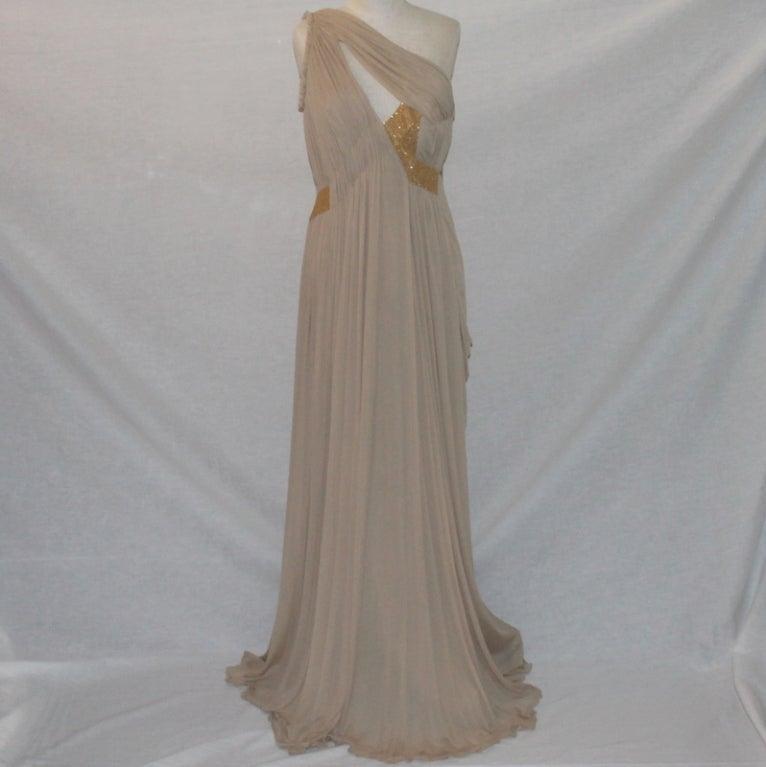 Alberta Feretti Nude Silk Gown 2