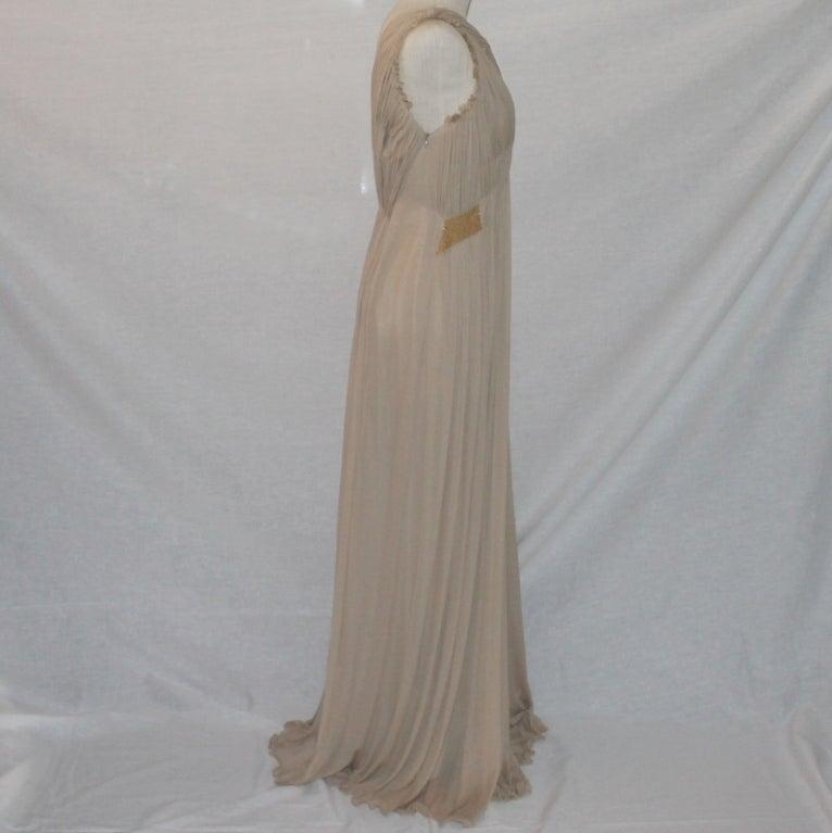 Alberta Feretti Nude Silk Gown image 3