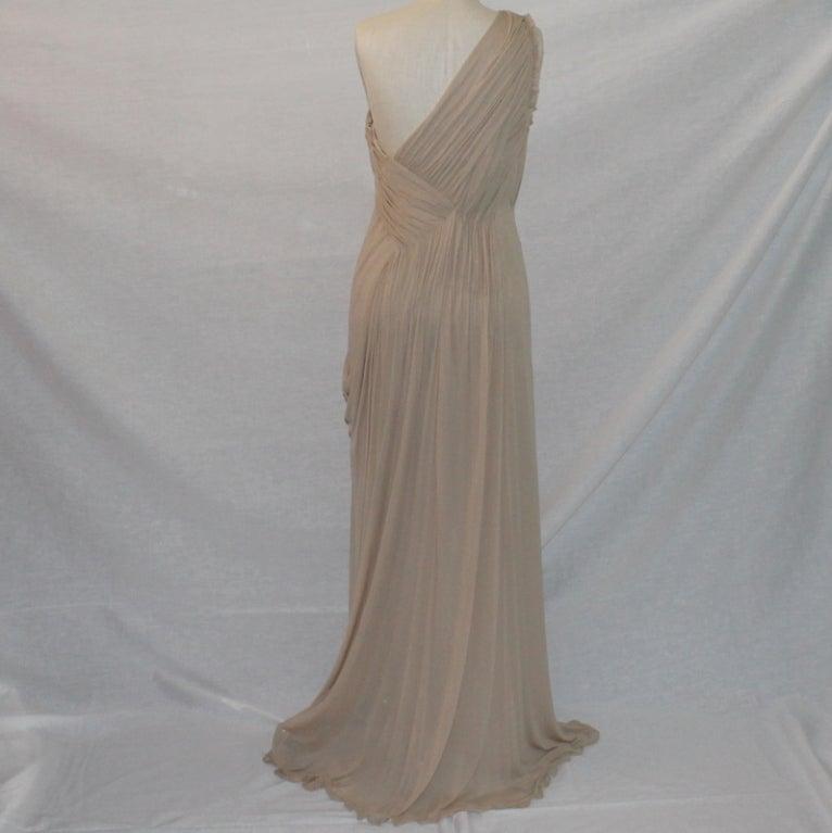 Alberta Feretti Nude Silk Gown 4