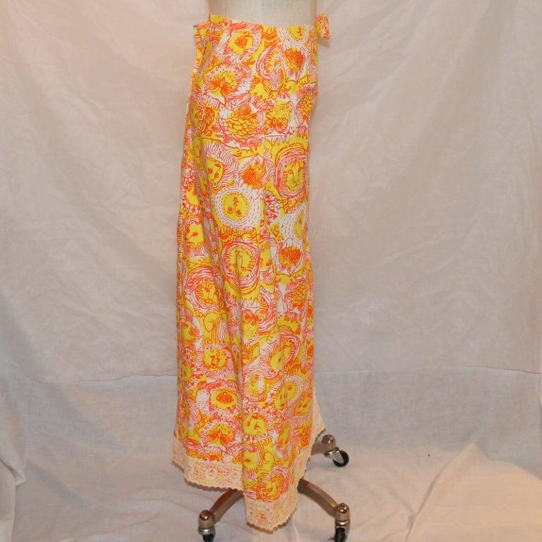 Orange Vintage Lilly Pulitzer Long Skirt For Sale