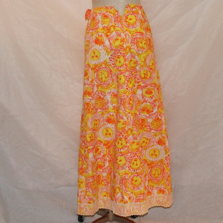 Women's Vintage Lilly Pulitzer Long Skirt For Sale