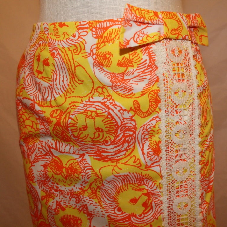 Vintage Lilly Pulitzer Long Skirt For Sale 1