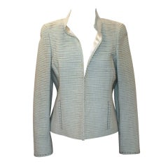 Akris Green Shutter Pleat Jacket