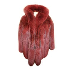 Vintage Red Fox Fur Jacket- Circa 60's