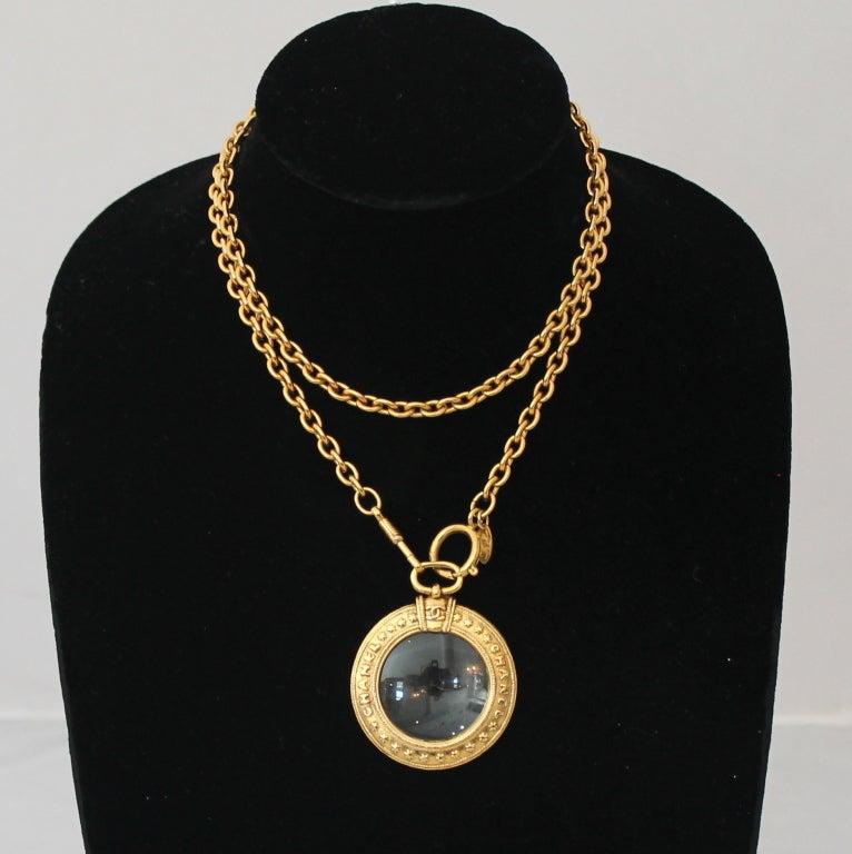 Chanel Vintage Magnifier Necklace - Circa 70's 2