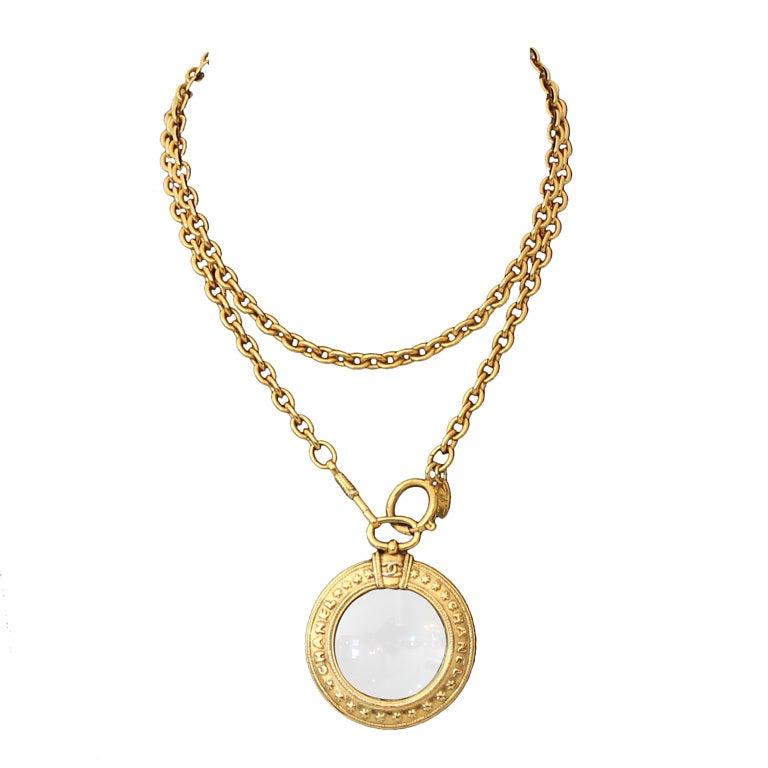Chanel Vintage Magnifier Necklace - Circa 70's 1
