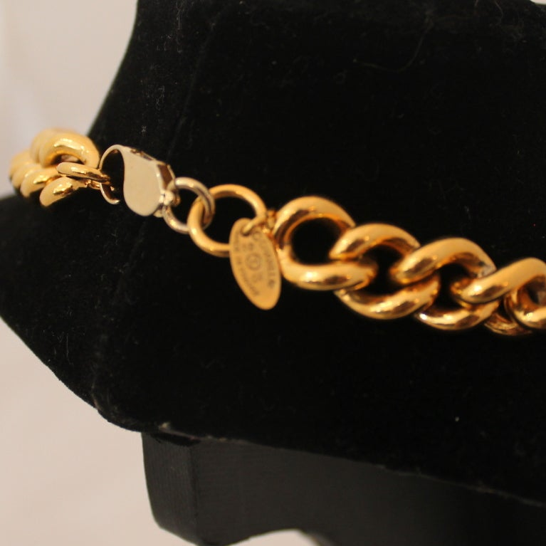 Vintage Chanel Single Gold Medallion Necklace - Circa 1986 4