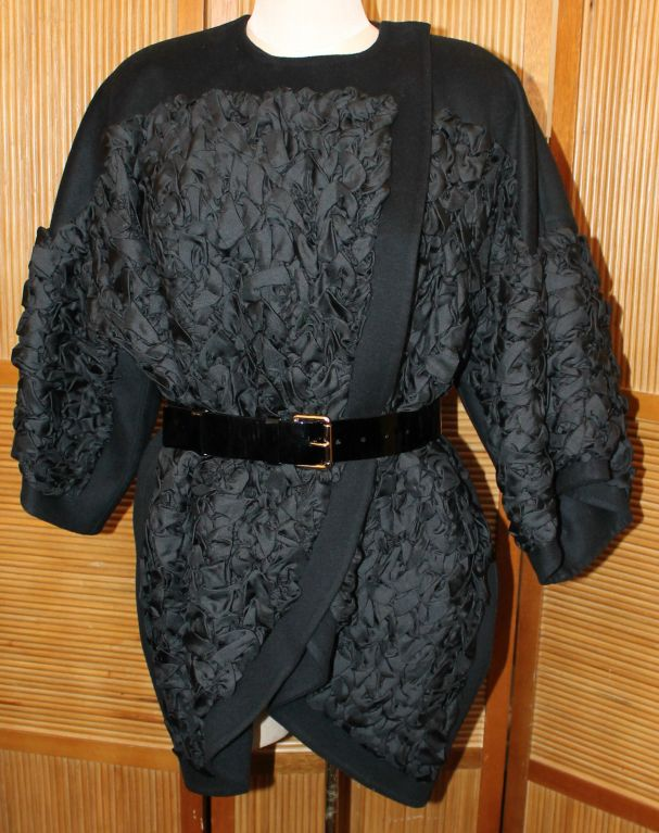 Louis Vuitton Black Wool/Cashmere Blend 3/4 Coat-Size 34F image 2
