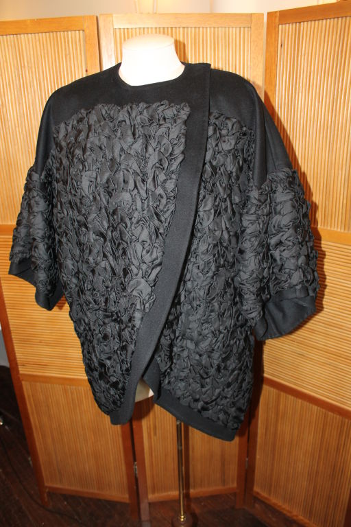 Louis Vuitton Black Wool/Cashmere Blend 3/4 Coat-Size 34F image 3