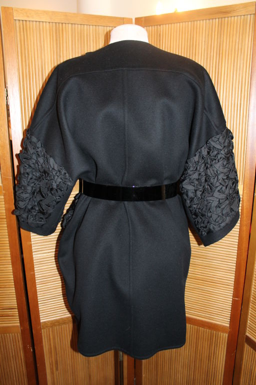 Louis Vuitton Black Wool/Cashmere Blend 3/4 Coat-Size 34F image 6