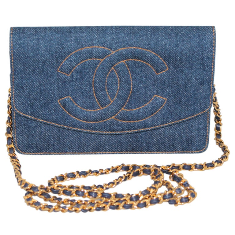 Chanel Denim WOC Limited Edition Crossbody Handbag - GHW Circa 1996