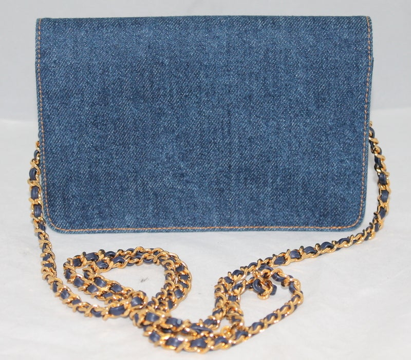 Chanel Denim WOC Limited Edition Crossbody Handbag - GHW Circa 1996 image 2