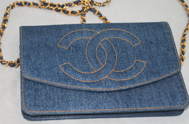 Chanel Denim WOC Limited Edition Crossbody Handbag - GHW Circa 1996 image 3