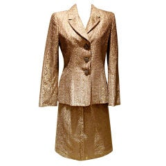 Badlgley Mischka Bronze Lace Skirt Suit-Sz 6