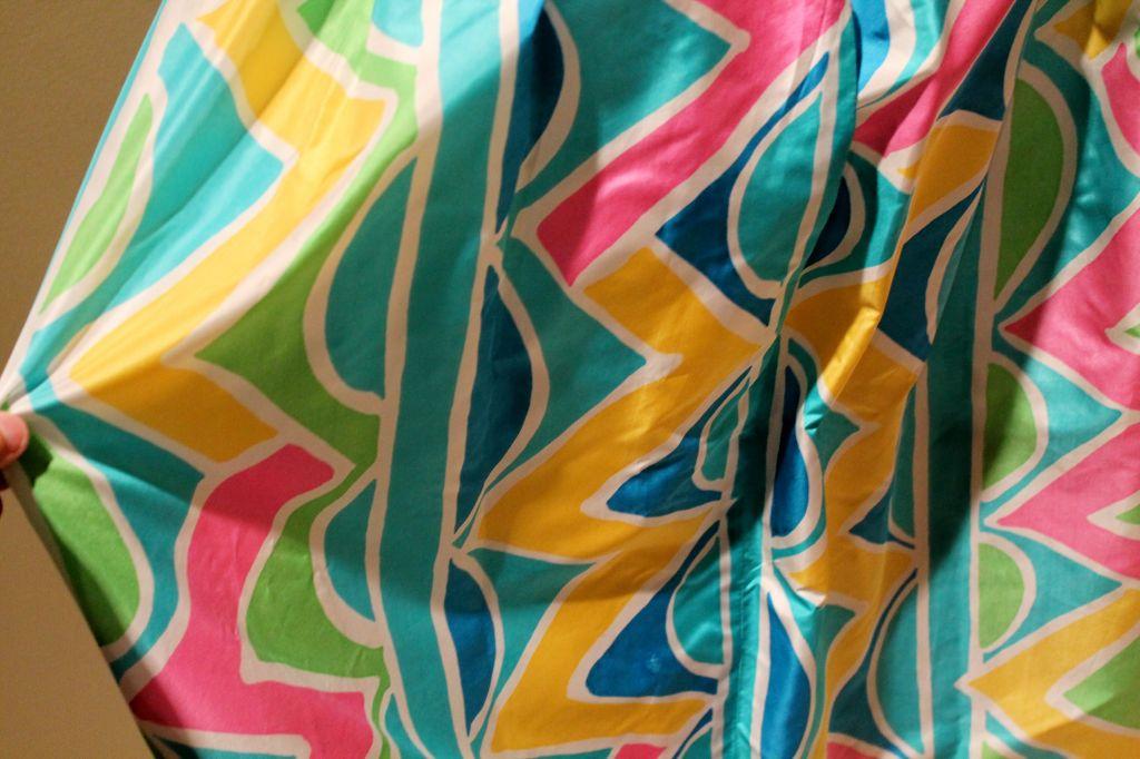 Women's Vintage Oscar De La Renta Multi Color Taffeta Maxi Skirt-Sz 4 - Circa 70's For Sale