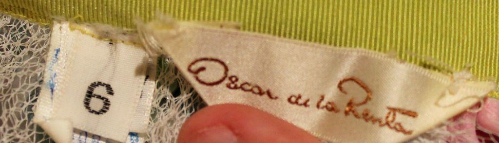 Vintage Oscar De La Renta Multi Color Taffeta Maxi Skirt-Sz 4 - Circa 70's For Sale 2