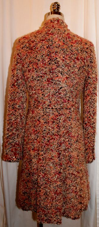 Custom Made 3/4 Coat with Multi Color Boucle Chanel Fabric-6/8 1