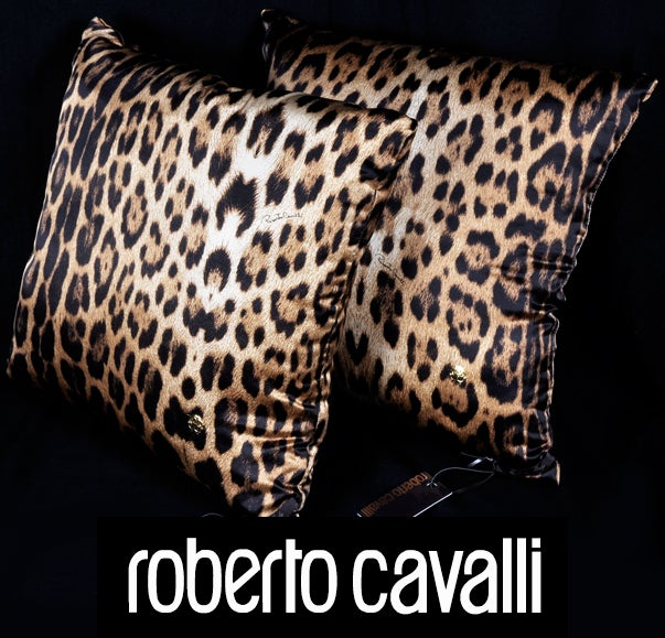 ROBERTO CAVALLI LEOPARD PRINT SILK PILLOWS 2