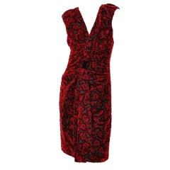 Prada Red Velvet Dress