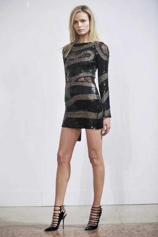 EMILIO PUCCI BLACK BEADED MINI DRESS 2