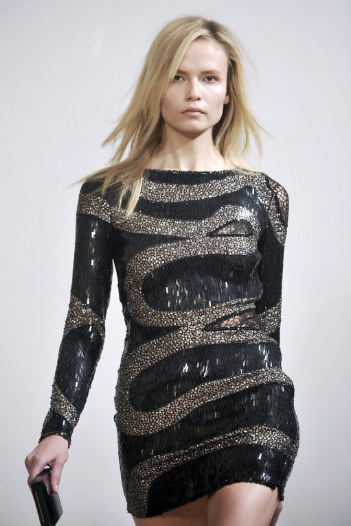 EMILIO PUCCI BLACK BEADED MINI DRESS 3