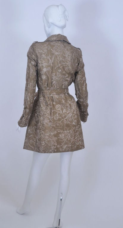 Gucci Limited Edition Embroidered and Beaded Trench Coat In New Never_worn Condition For Sale In Montgomery, TX