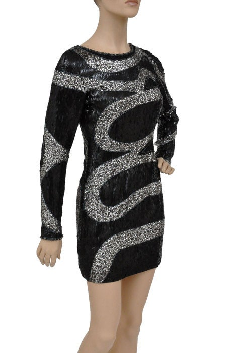 EMILIO PUCCI BLACK BEADED MINI DRESS 6