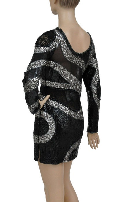 EMILIO PUCCI BLACK BEADED MINI DRESS 8