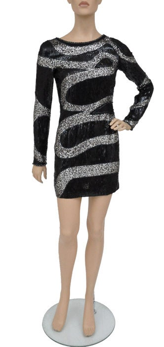 EMILIO PUCCI BLACK BEADED MINI DRESS 9