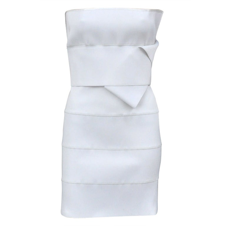 S/S 2001 TOM FORD for YSL WHITE BANDAGE DRESS 1