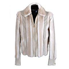 GIANNI VERSACE COUTURE MEN'S LEATHER AND MINK FUR JACKET