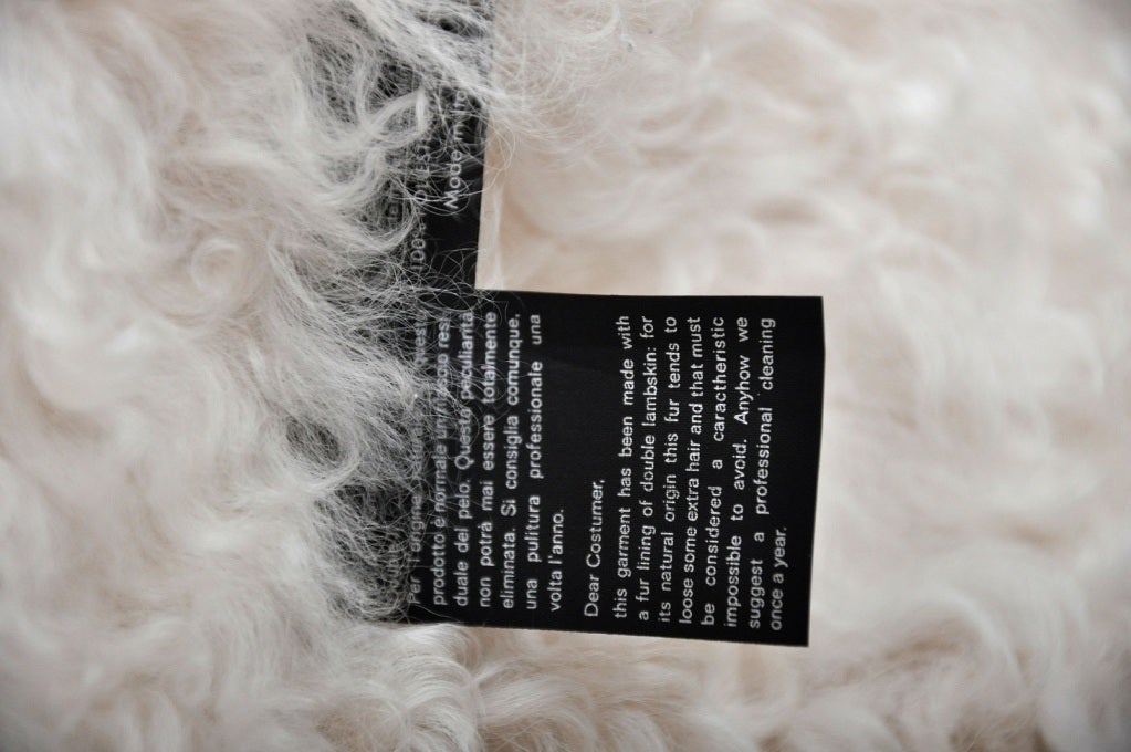 Tom Ford for Gucci White Denim and Lamb Fur Jacket 7
