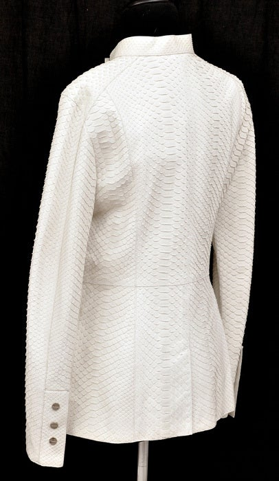 Women's New GIANNI VERSACE COUTURE WHITE PYTHON JACKET For Sale