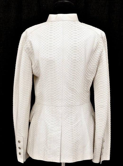 New GIANNI VERSACE COUTURE WHITE PYTHON JACKET For Sale 1