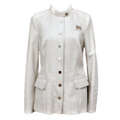 New GIANNI VERSACE COUTURE WHITE PYTHON JACKET