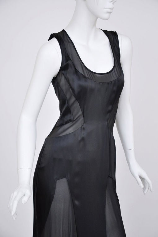 Versace black chiffon silk gown 6