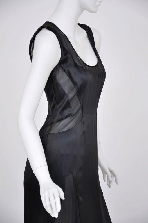 Versace black chiffon silk gown 8